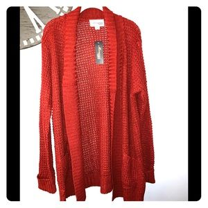 NWT Morgan City rust colored cardigan size 2X
